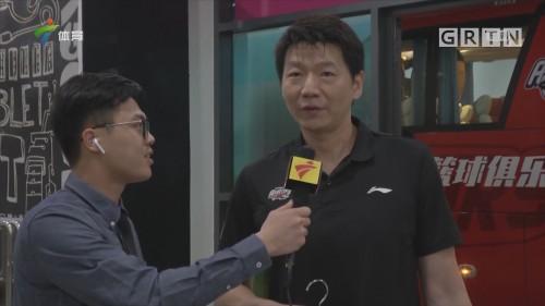 前方记者采访深圳马可波罗队员