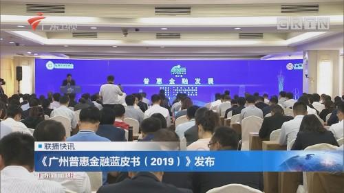 《广州普惠金融蓝皮书(2019)》发布