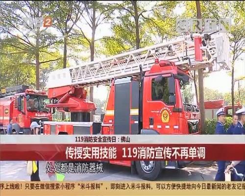 119消防安全宣传日:佛山 传授实用技能 119消防宣传不再单调