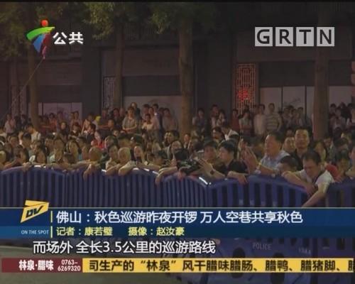 (DV现场)佛山:秋色巡游昨夜开锣 万人空巷共享秋色