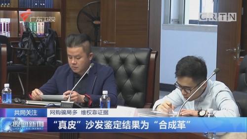 """网购骗局多 维权靠证据 """"真皮""""沙发鉴定结果为""""合成革"""""""