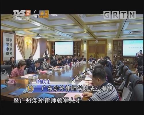 广东涉外律师学院成立揭牌