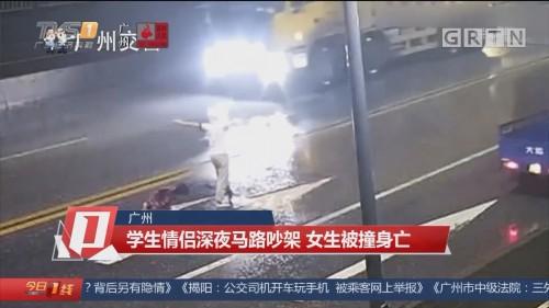 广州:学生情侣深夜马路吵架 女生被撞身亡
