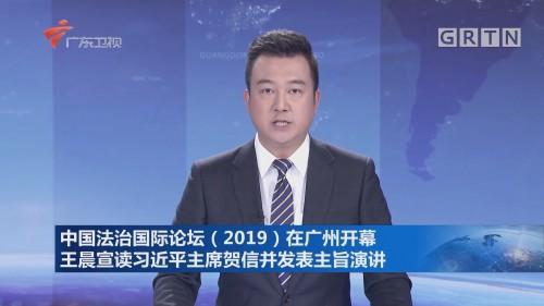 中国法治国际论坛(2019)在广州开幕 王晨宣读习近平主席贺信并发表主旨演讲