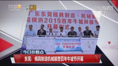 东莞:模具制造机械展暨百年牛墟节开幕