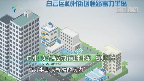 广州:女子高空抛箱砸中小车 被判三年