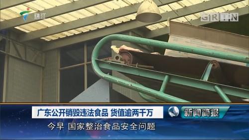 广东公开销毁违法食品 货值逾两千万