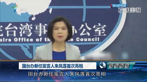 国台办新任发言人朱凤莲首次亮相