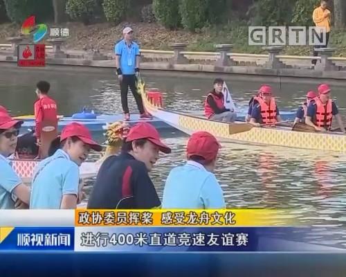 政协委员挥桨 感受龙舟文化