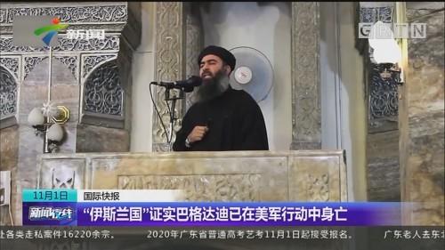 """""""伊斯兰国""""证实巴格达迪已在美军行动中身亡"""