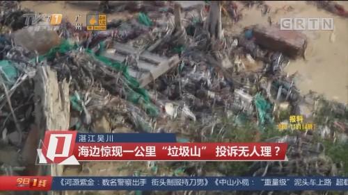"""湛江吴川:海边惊现一公里""""垃圾山"""" 投诉无人理?"""