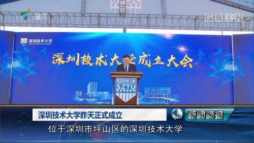深圳技术大学昨天正式成立