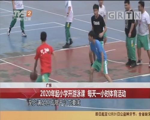广东 2020年起小学开游泳课 每天一小时体育活动