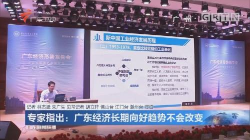 专家指出:广东经济长期向好趋势不会改变