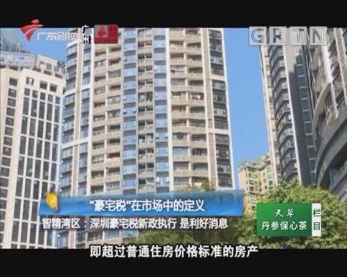 """智精湾区:""""豪宅税""""在市场中的定义"""