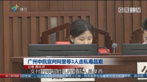 广州中院宣判阿里等3人走私毒品案