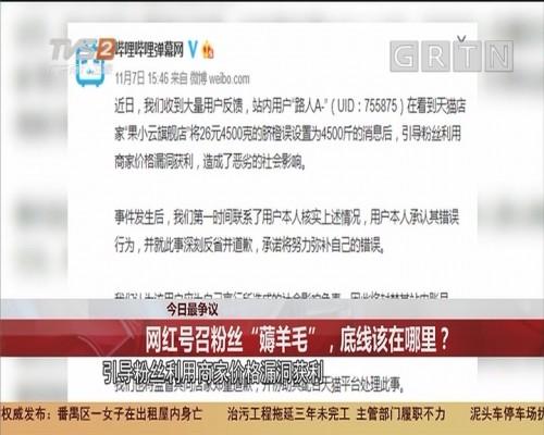 """今日最争议:网红号召粉丝""""薅羊毛"""",底线该在哪里?"""