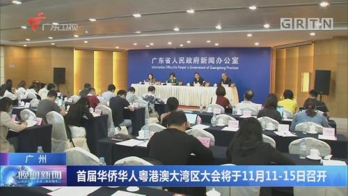 广州:首届华侨华人粤港澳大湾区大会将于11月11-15日召开