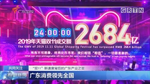 """""""双11""""新速度背后的广东产业之变 广东消费领先全国"""
