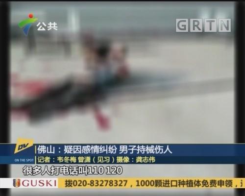 (DV现场)佛山:疑因感情纠纷 男子持械伤人