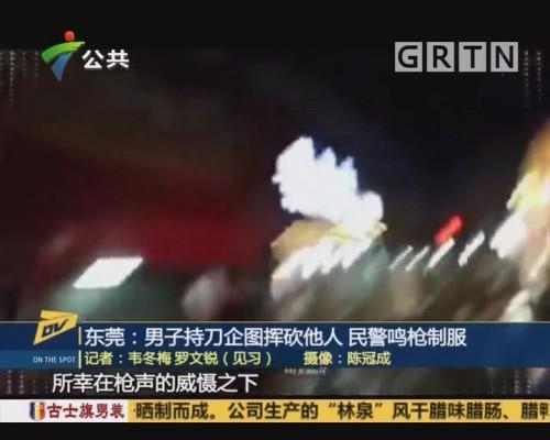 (DV现场)东莞:男子持刀企图挥砍他人 民警鸣枪制服