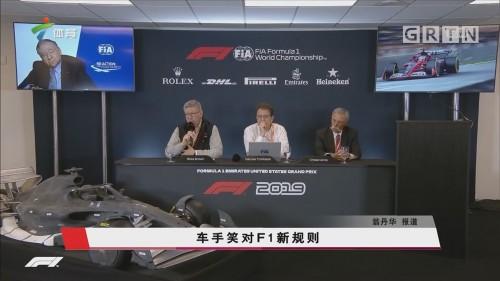 车手笑对F1新规则