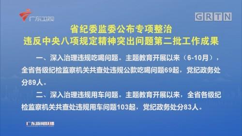 省纪委监委公布专项整治违反中央八项规定精神突出问题第二批工作成果