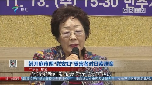 """韩开庭审理""""慰安妇""""受害者对日索赔案"""