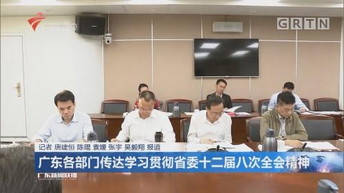 广东各部门传达学习贯彻省委十二届八次全会精神