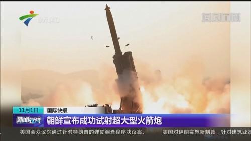 朝鲜宣布成功试射超大型火箭炮