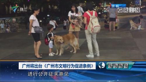 广州将出台《广州市文明行为促进条例》