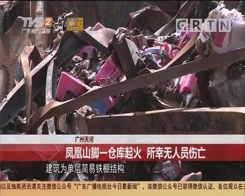 广州天河 凤凰山脚一仓库起火 所幸无人员伤亡