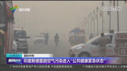 """印度新德里因空气污染进入""""公共健康紧急状态"""""""