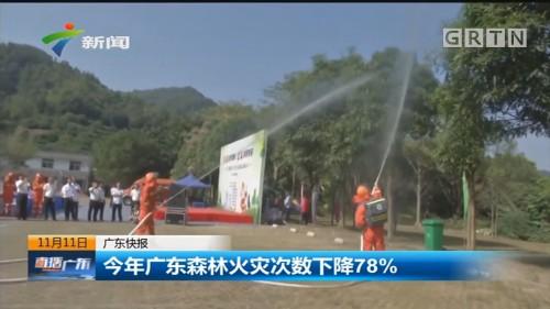 今年广东森林火灾次数下降78%