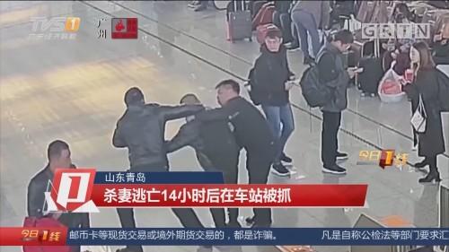 山东青岛:杀妻逃亡14小时后在车站被抓