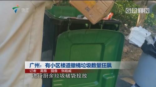 广州:有小区楼道撤桶垃圾数量狂飙