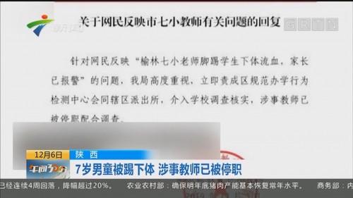 陕西:7岁男童被踢下体 涉事教师已被停职