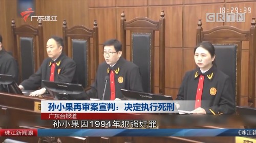 孙小果再审案宣判:决定执行死刑