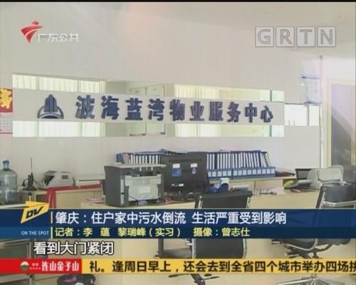 (DV现场)肇庆:住户家中污水倒流 生活严重受到影响
