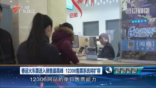 春运火车票进入销售最高峰 12306售票系统将扩容