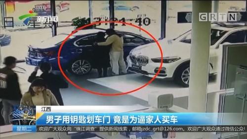 江西:男子用钥匙划车门 竟是为逼家人买车