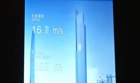 超高速电梯吉尼斯世界纪录证书移交仪式广州举行