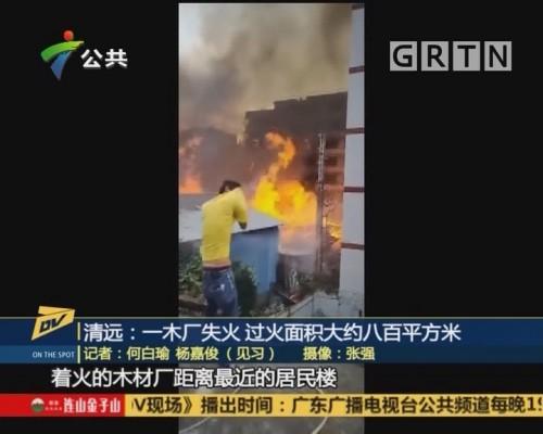 (DV现场)清远:一木厂失火 过火面积大约八百平方米
