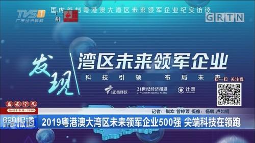 2019粤港澳大湾区未来领军企业500强 尖端科技在领跑