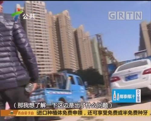 (DV现场)惠州:塔吊倒塌砸向道路 幸无人员伤亡