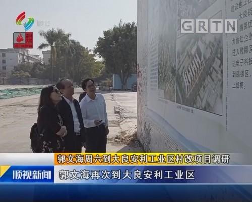 郭文海周六到大良安利工业区村改项目调研