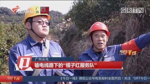 """广州从化 输电线路下的""""橘子红服务队"""""""