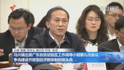 马兴瑞出席广东自贸试验区工作领导小组第九次会议 争当建设开放型经济新体制的排头兵