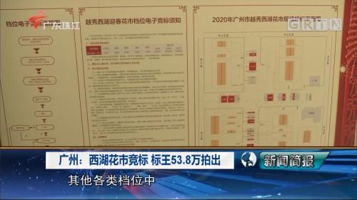 广州:西湖花市竞标 标王53.8万拍出