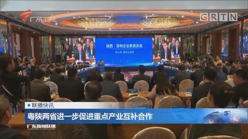 粤陕两省进一步促进重点产业互补合作